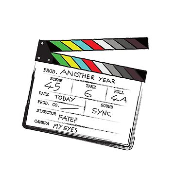 Clapperboard Take 2 by GeekyMcGeekface