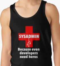 SYSADMIN: Because even developers need heros Tank Top