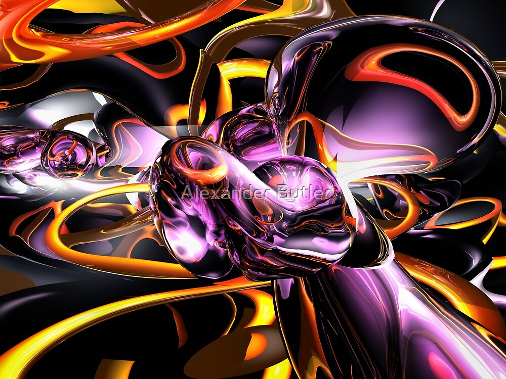 Cosmic Lightning Abstract by Alexander Butler