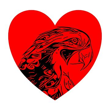 Parrot with heart by EK-Design24