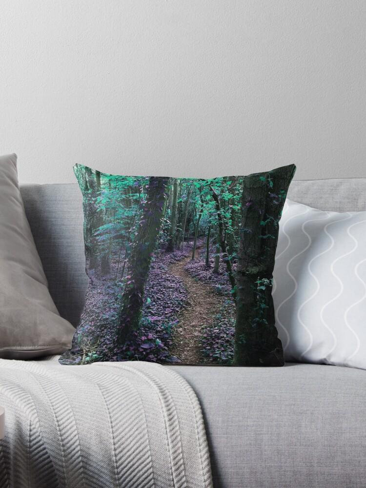 Woodland Path in Purple by LoraMaze