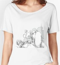 Mandrill biker is angry Women's Relaxed Fit T-Shirt