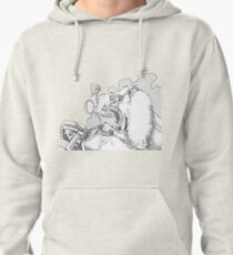 Mandrill biker is angry Pullover Hoodie