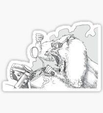 Mandrill biker is angry Sticker