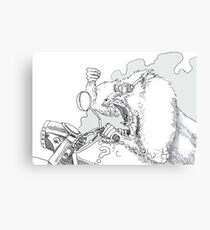 Mandrill biker is angry Metal Print