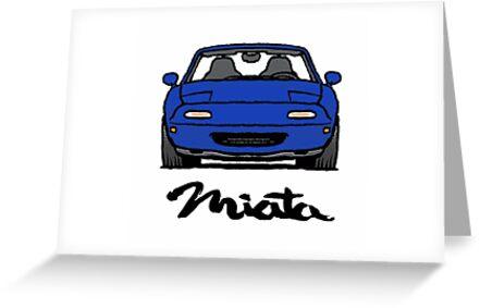 MX5 Miata NA Blue by Woreth
