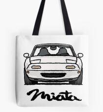 MX5 Miata NA White Tote Bag