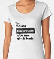 Oasis - Supersonic Lyrics design Women's Premium T-Shirt