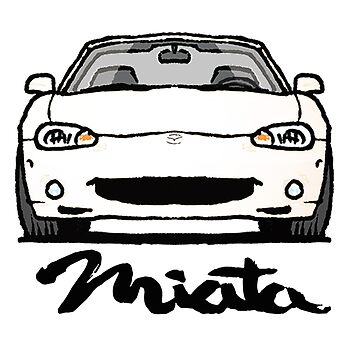 MX5 Miata NB White by Woreth