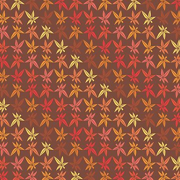 Warm Fall Leaves Pattern by limengd