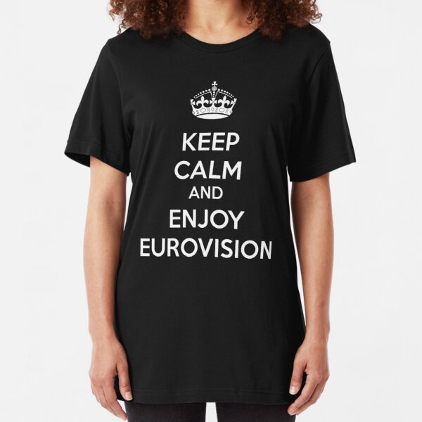 Eurovision - Keep calm and enjoy eurovision Slim Fit T-Shirt