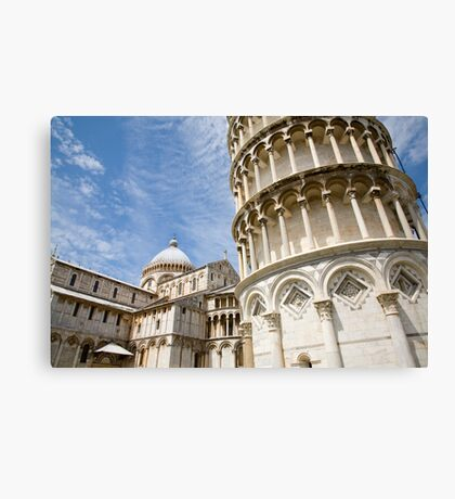 Leaning tower of pisa, Italy. Canvas Print