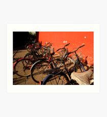 Bicycles - Beijing, China Art Print