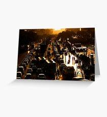 Rush-Hour Traffic - Xi'an, China Greeting Card