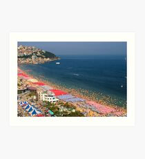 Haeundae Crowds - Busan, South Korea Art Print