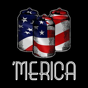 American Flag Beer Cans - United States Patriotic Theme - Alcohol Gift by stuch75