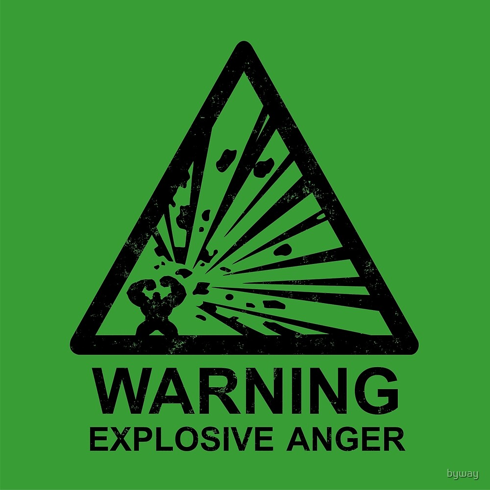 Warning: Explosive Anger by byway