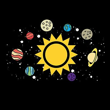 Solar System | Planets Sun and Moon by highparkoutlet