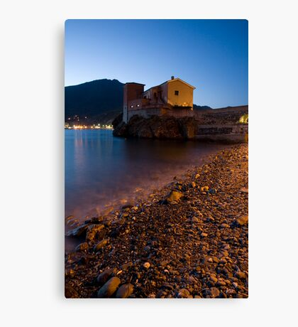 levanto at night, italy Canvas Print
