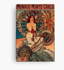 'Monaco' by Alphonse Mucha (Reproduction) Canvas Print