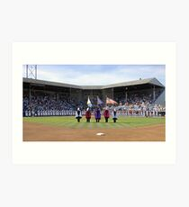 Eugene Emeralds' final game at Civic Stadium, opening ceremony. Art Print