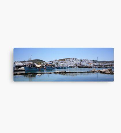 Naoussa ~ Fishing Harbour & Village ~ What a Gem Canvas Print