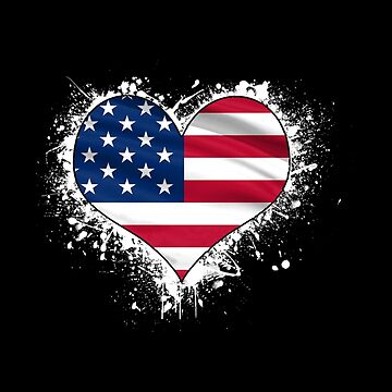 American Flag Heart Shape - Love The USA Design - Patriotic gift by stuch75