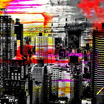 city view, pop art style by ShellyKay