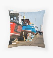 Seahouses Throw Pillow