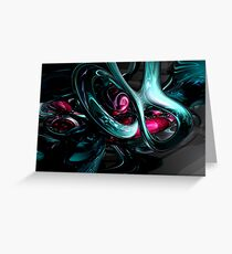 Dark Secrets Abstract Greeting Card