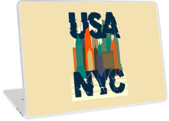 New York City USA typography  graphic, t-shirt stamp. by JrNergal