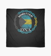 Bahamas Its In My DNA - Bahamas Bahamian Flag In Thumbprint Scarf
