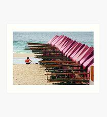 A beach Art Print