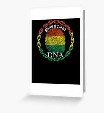 Bolivia Its In My DNA - Bolivia Bolivian Flag In Thumbprint Grußkarte