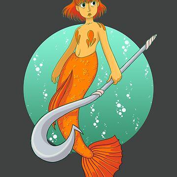 Warrior Mermaid by AnimaMundi113