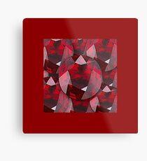 RED FACETED GARNET JANUARY  BIRTHSTONES   Metal Print