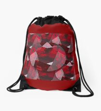 RED FACETED GARNET JANUARY  BIRTHSTONES   Drawstring Bag