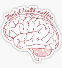 Pegatina Cuestiones de salud mental