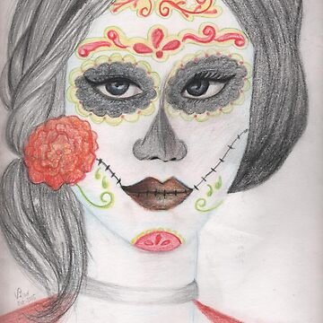 Catrina Dia De Los Muertos Day Of The Dead Holiday by Zehda
