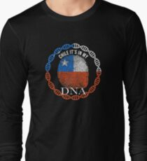 Chile Its In My DNA - Chile Chilean Flag In Thumbprint Long Sleeve T-Shirt