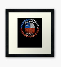 Chile Its In My DNA - Chile Chilean Flag In Thumbprint Framed Print