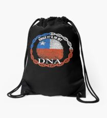 Chile Its In My DNA - Chile Chilean Flag In Thumbprint Drawstring Bag