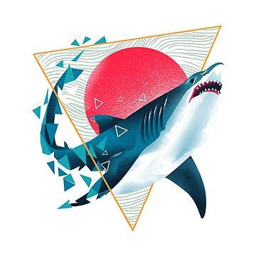 Geometric Shark by dandingeroz