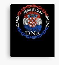 Croatia Its In My DNA - Croatia Croatian Flag In Thumbprint Canvas Print