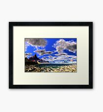 Tidal Bore - Low Tide Framed Print