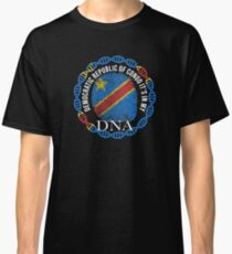 Democratic Republic Of Congo Its In My DNA - Democratic Republic Of Congo Congolese Flag In Thumbprint Classic T-Shirt