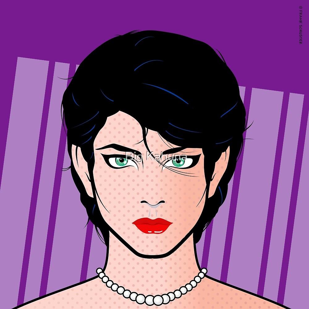 Beautiful Pop Art Woman Kirra Popart Girl by Frank Schuster