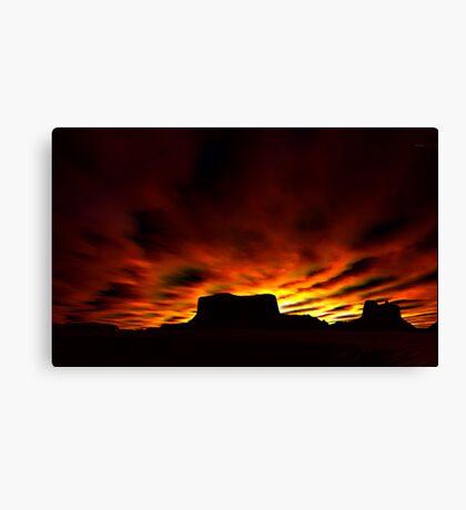 Desert Silhouettes Canvas Print