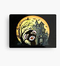 Spooky House Metal Print