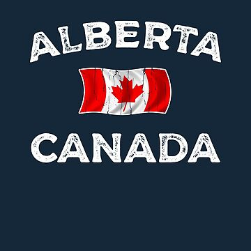 Alberta Canada Waving Canadian flag by dk80